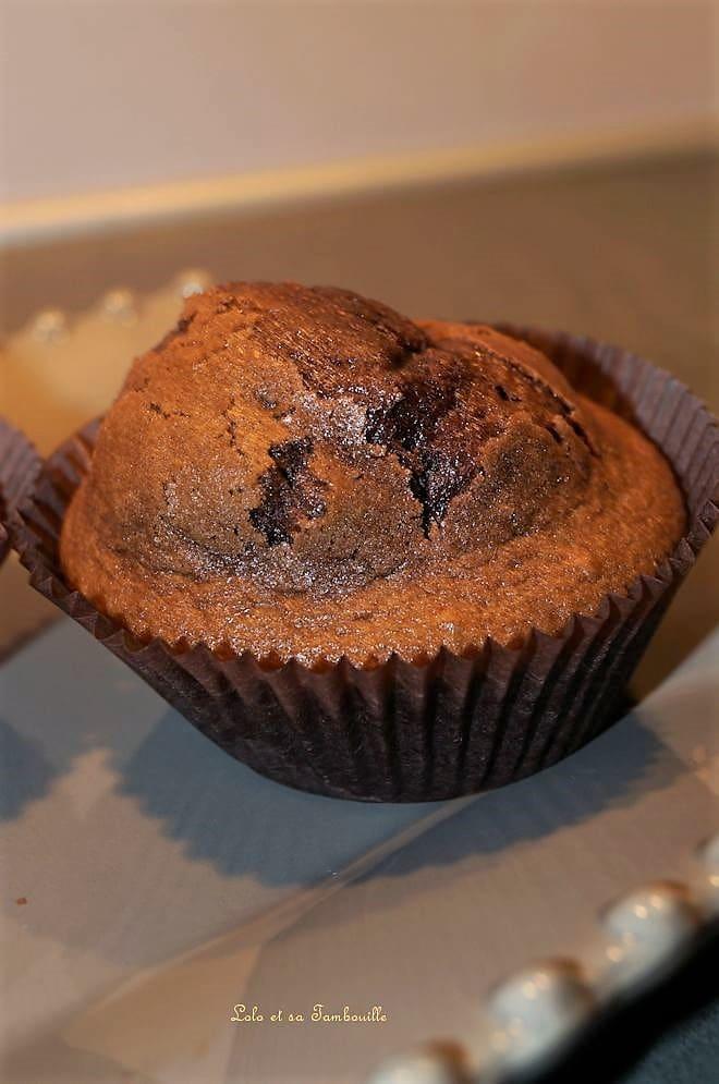Muffins au Nutella & pépites de chocolat