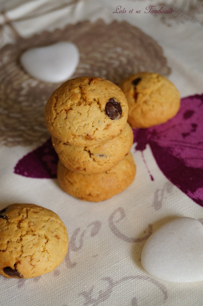 Biscuits vanille & pépites de chocolat {au jaunes d'œuf}