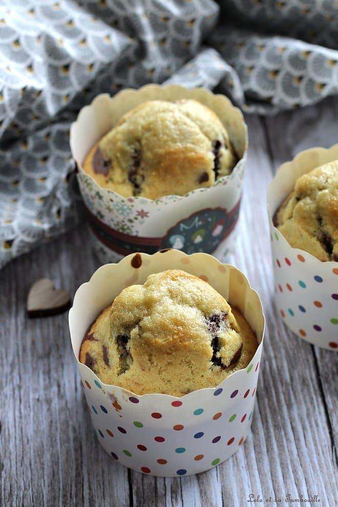 Muffins marbrés {chocolat & vanille}