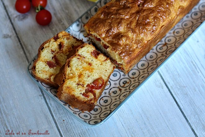 Cake aux tomates cerises