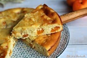 Gâteau amandine abricots