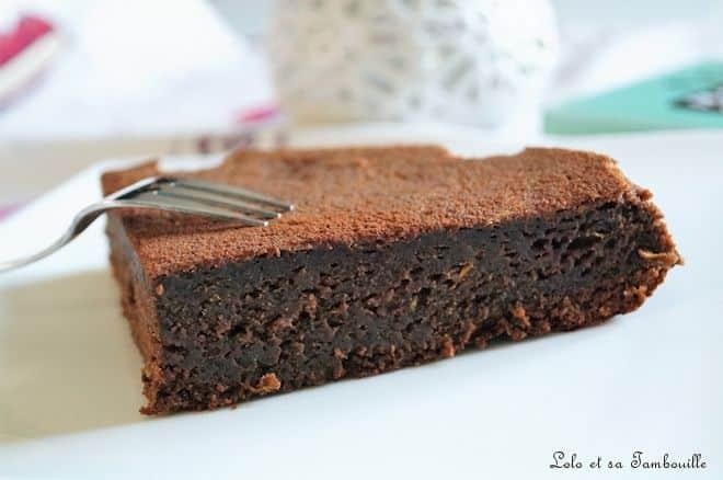 Moelleux au chocolat & courgette {sans beurre}