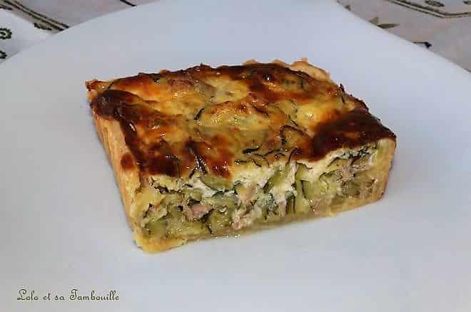 Tarte aux courgettes, thon & parmesan