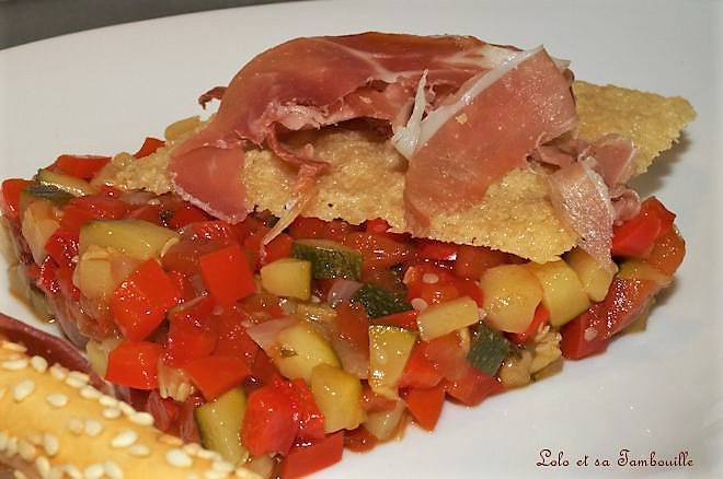 Tartare de légumes au jambon de Bayonne
