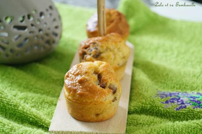Mini cakes aux anchois & basilic