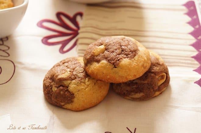 Cookies marbrés aux cacahuètes