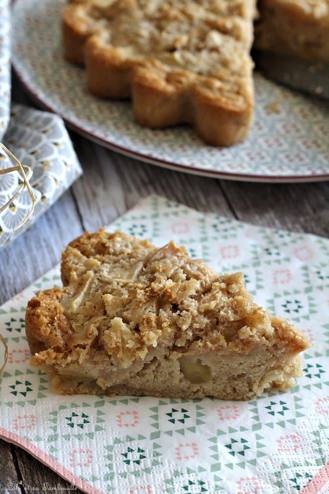 Gâteau aux pommes {sans œufs}