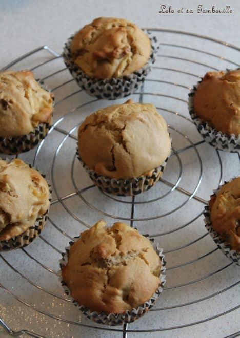 Muffins à la pomme, noix & spéculoos
