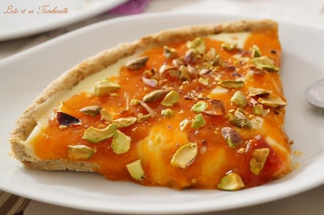 Tarte aux abricots & chocolat blanc {pâte aux spéculoos}