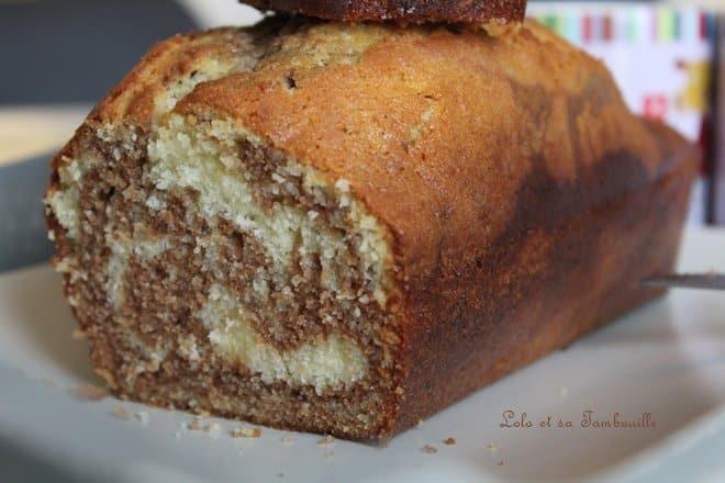 Marbré à la pâte à tartiner