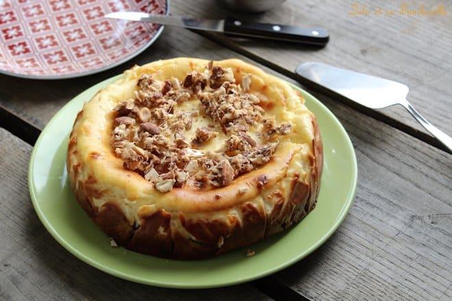 Cheesecake aux amandes caramélisées