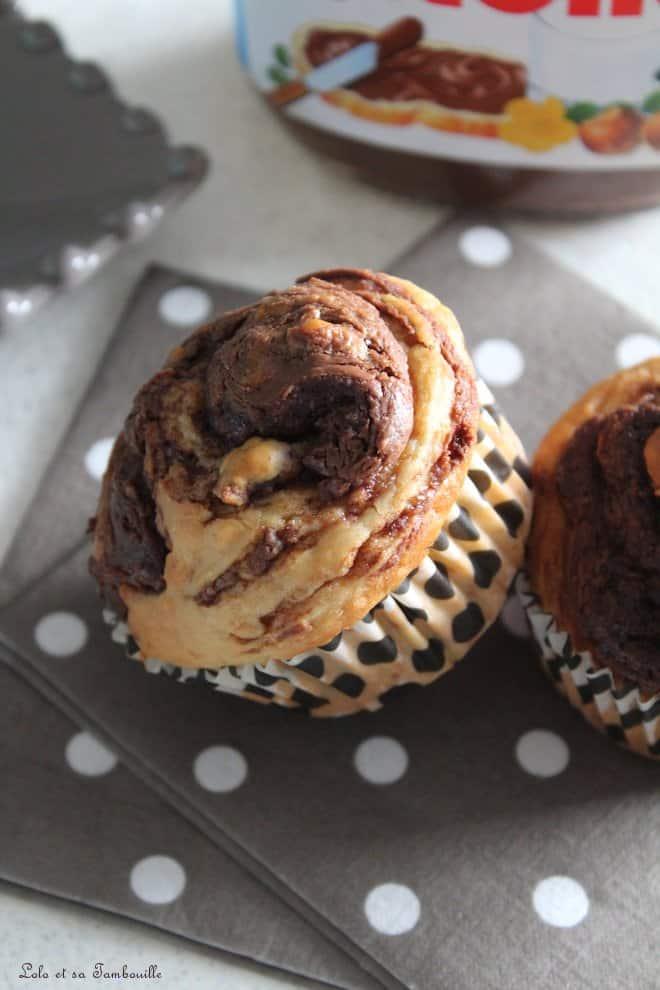 Muffins tourbillons au Nutella® {au lait ribot}
