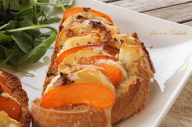 Bruschettas d'abricots