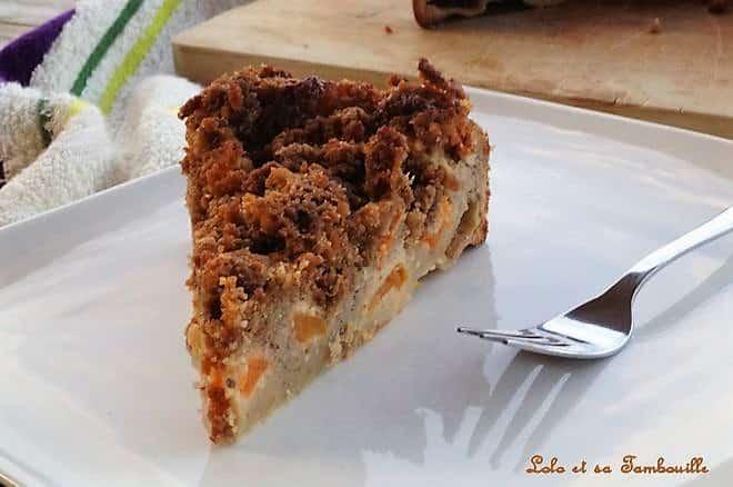 Clafoutis aux abricots, noisettes & crumble spéculoos {de Philippe Conticini}
