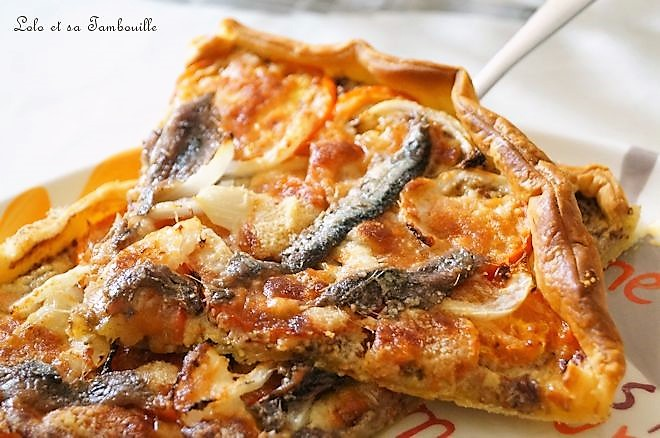 Tarte aux anchois