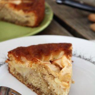 Gâteau aux pommes & crème d'amandes