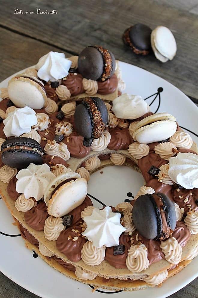 Number cake chocolat & carambars