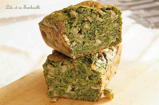 Cake aux épinards