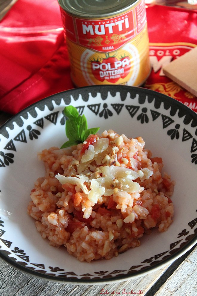 Risotto aux tomates & parmesan