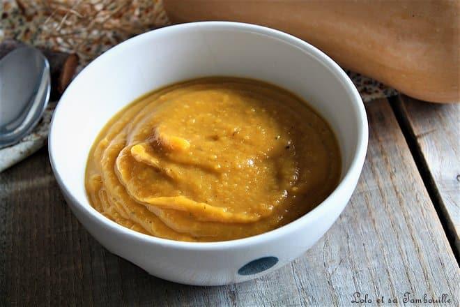 Velouté de butternut rôtie aux épices