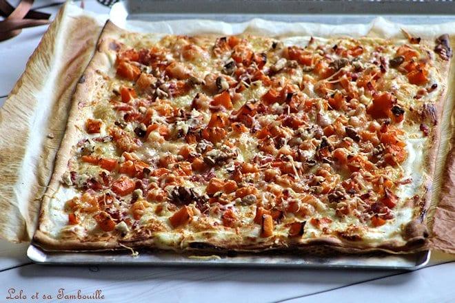 Pizza à la butternut & lardons