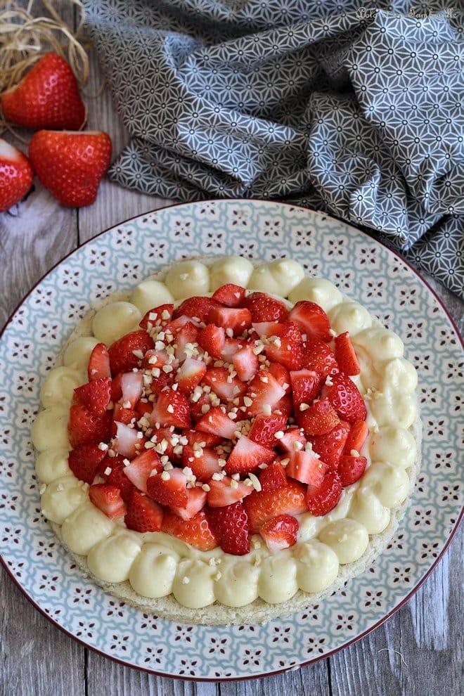 Dacquoise aux fraises