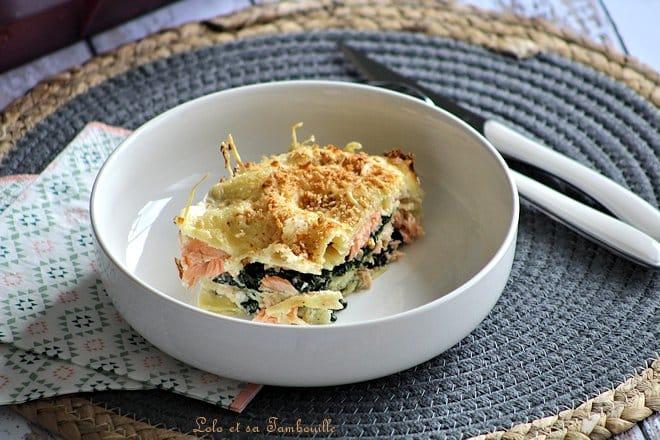Lasagnes épinards & saumon