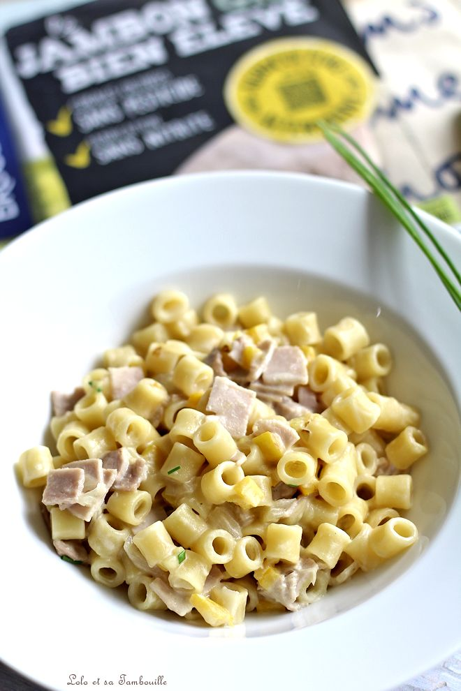 Pastasotto au jambon & courgette jaune