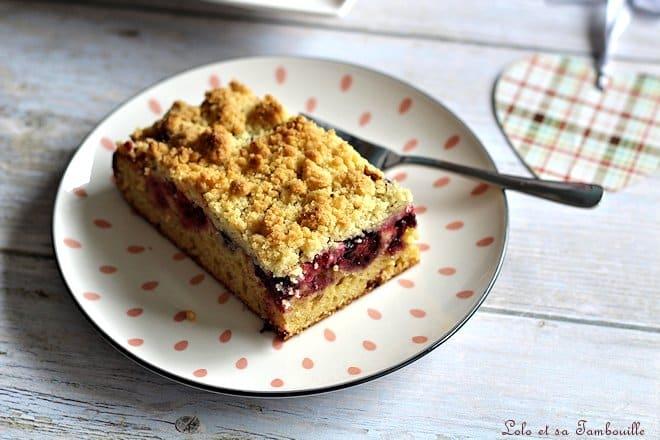Crumb cake aux fruits rouges,crumb cake,crumb cake fruits rouges,crumb cake recette