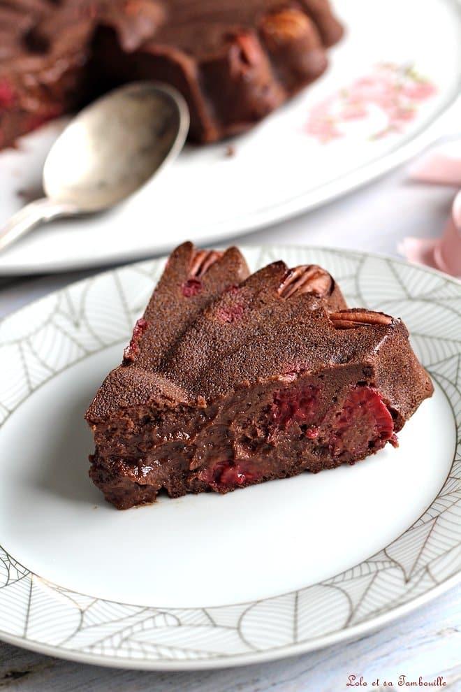 brownie chocolat, brownie à la compote