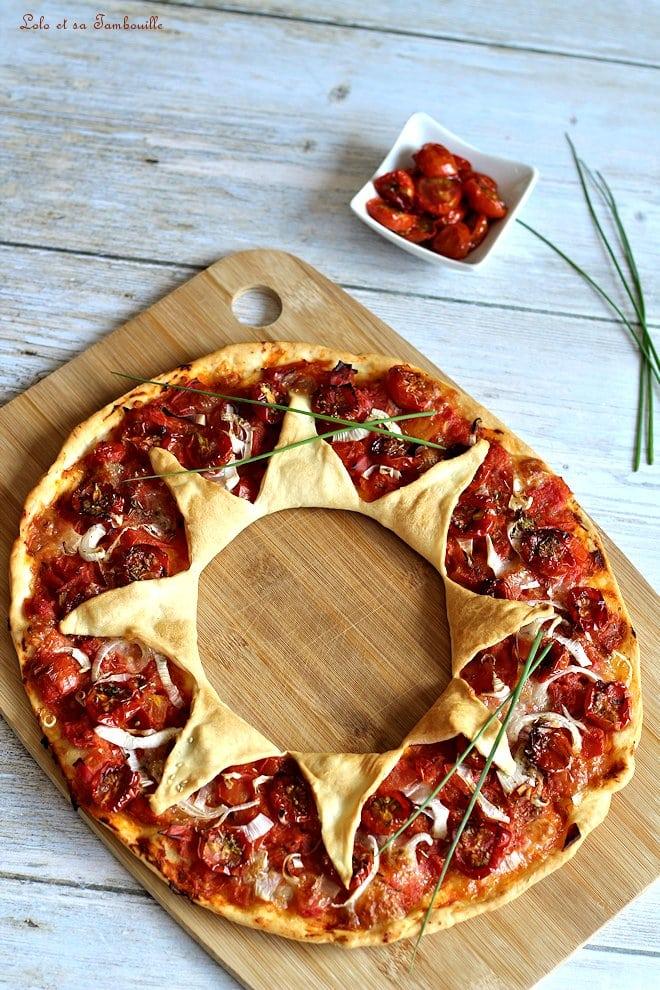 Pizza étoile aux tomates