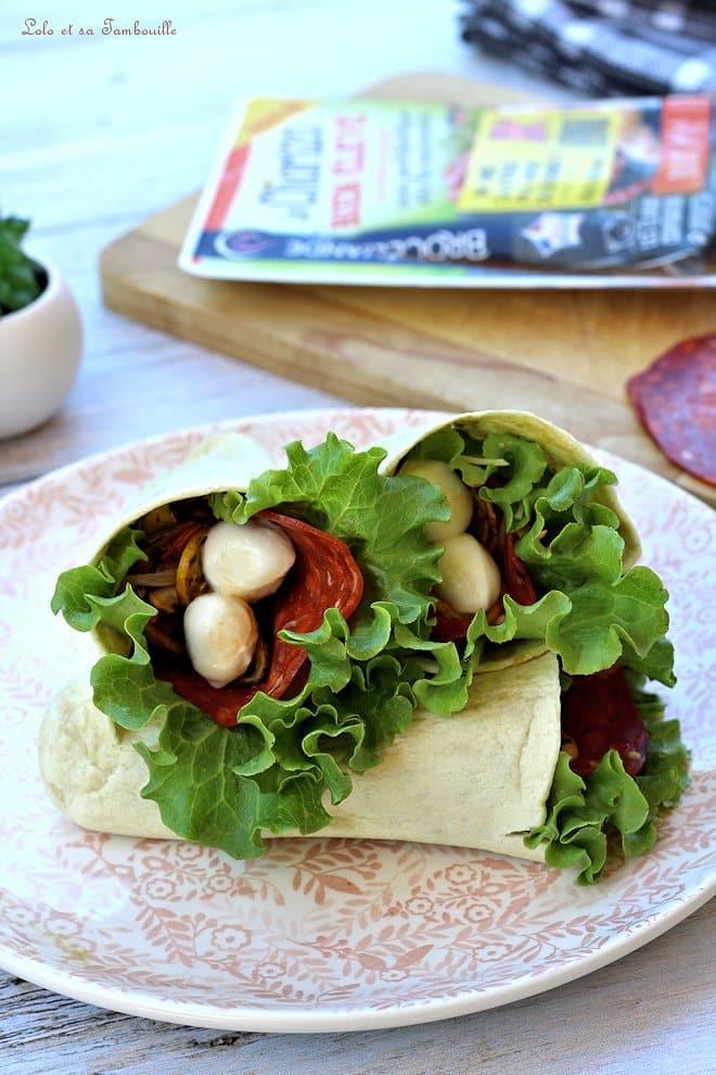 Tortilla pocket chorizo & légumes grillés