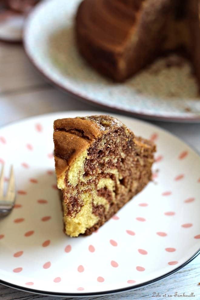 Gâteau zébré {à la pâte à tartiner}