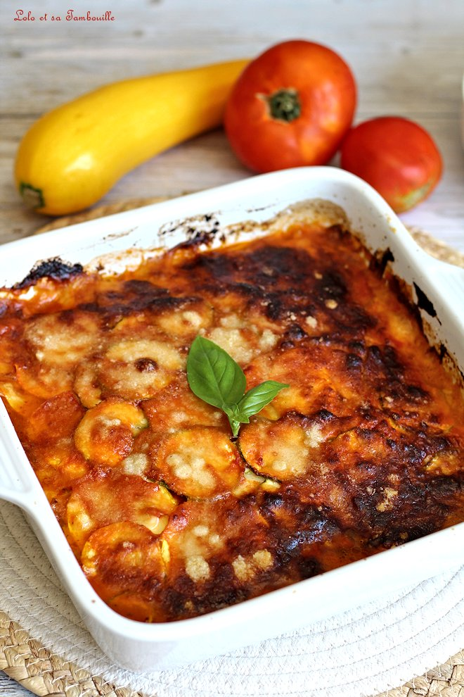 Parmigiana de courgettes & scamorza