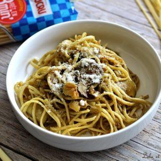 Spaghettis au pesto
