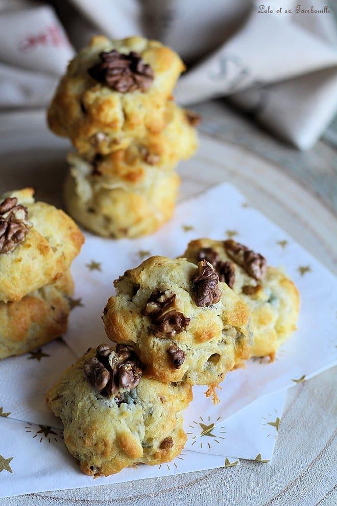 Cookies au gorgonzola & noix