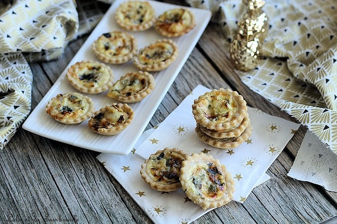 Tartelettes poireaux roquefort