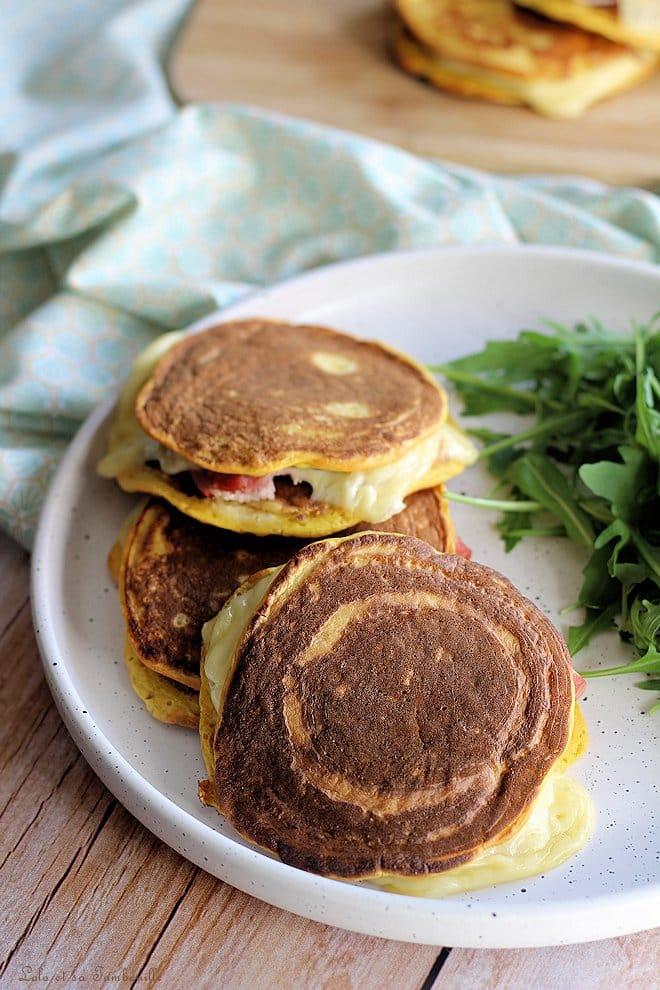 Pancakes à la butternut {façon croques Mr}