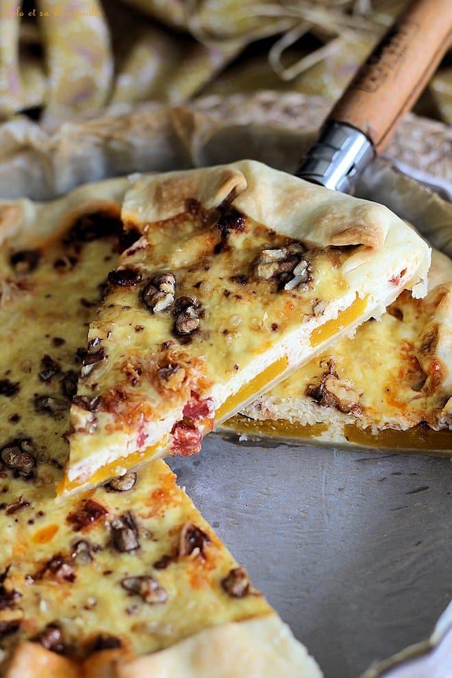 Tarte chorizo butternut