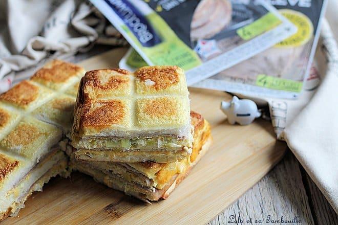 Croque Tablette jambon cheddar