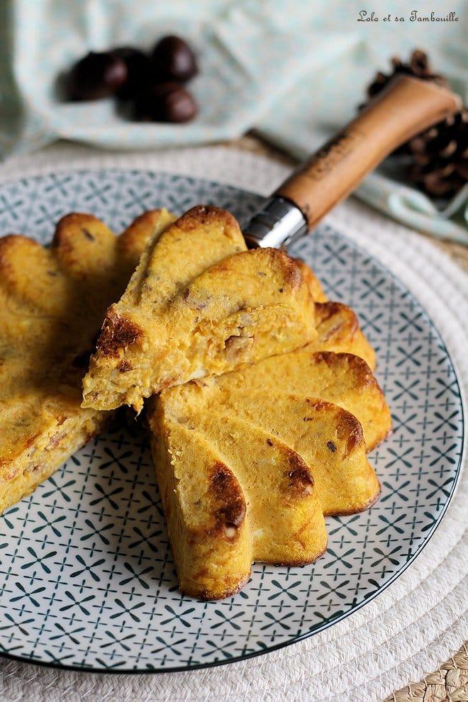 Quiche sans pâte à la butternut & chorizo