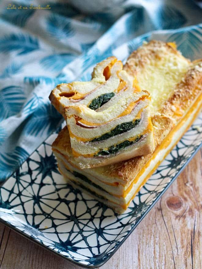 Croque cake au jambon & fromage