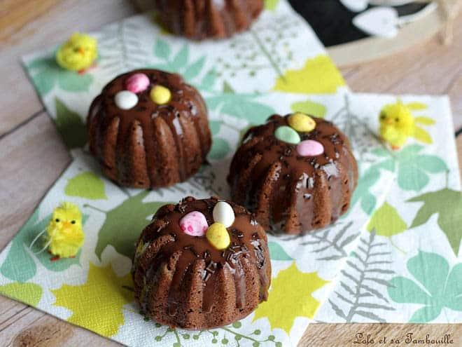 Moelleux nids Pâques chocolat