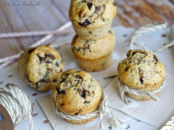 Muffins beurre cacahuètes chocolat