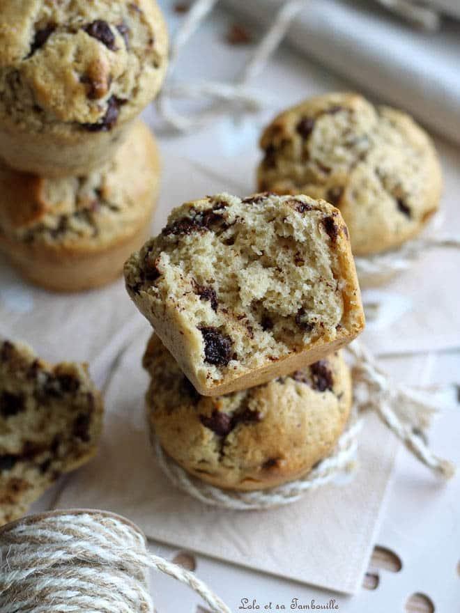Muffins au beurre de cacahuètes & pépites de chocolat