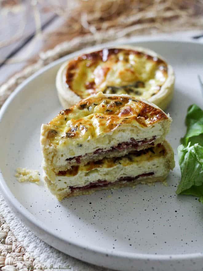 Tartelettes au magret de canard & crottin de chèvre