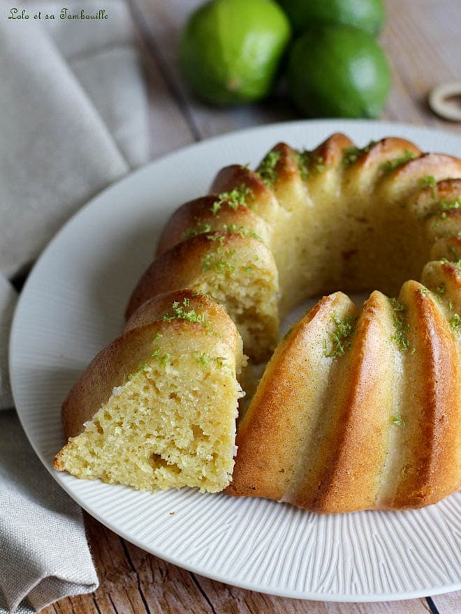 Bundt cake au citron vert