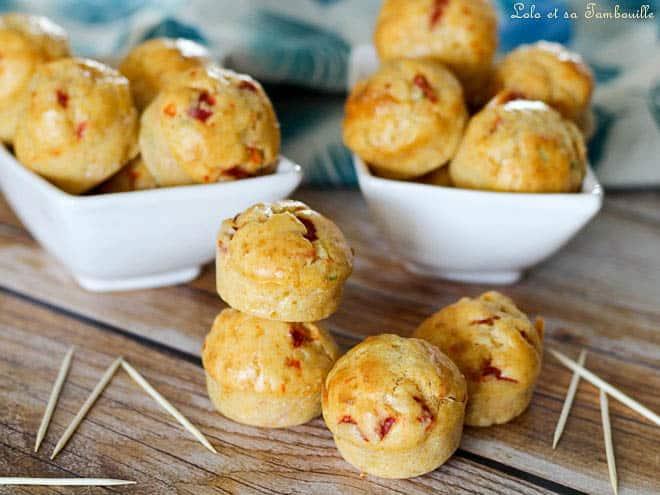Muffins apéritifs piquillos
