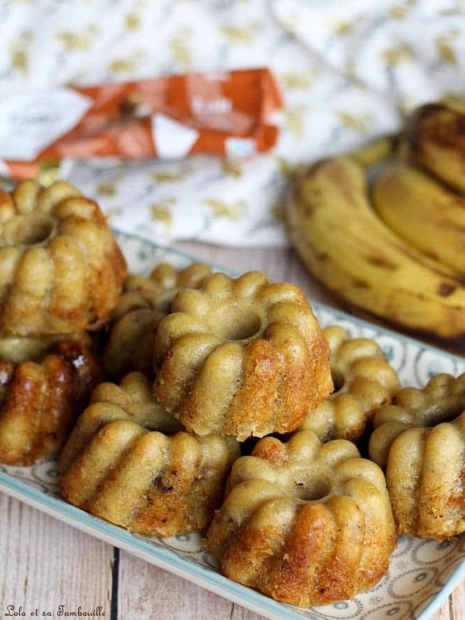 Muffins aux bananes & flocons d'avoine