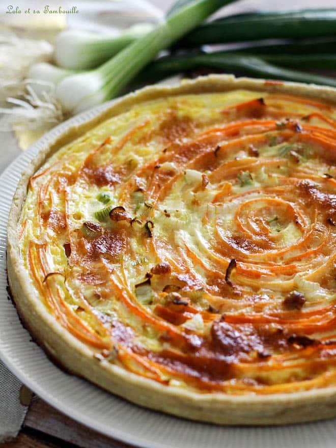 Tarte spirale aux carottes & comté